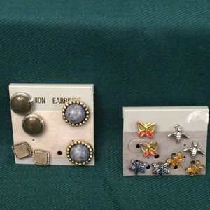 7 POST EARRINGS part of the 3 for $10